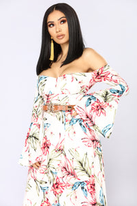 Jasper Beach Floral Dress - White