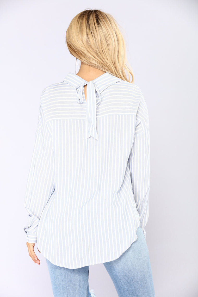 Cutting Ties Shirt - Blue/White