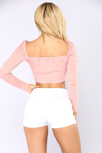 Don't Be Square Crop Top - Pink