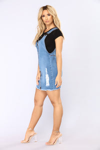 Country Girl Overall Dress - Blue