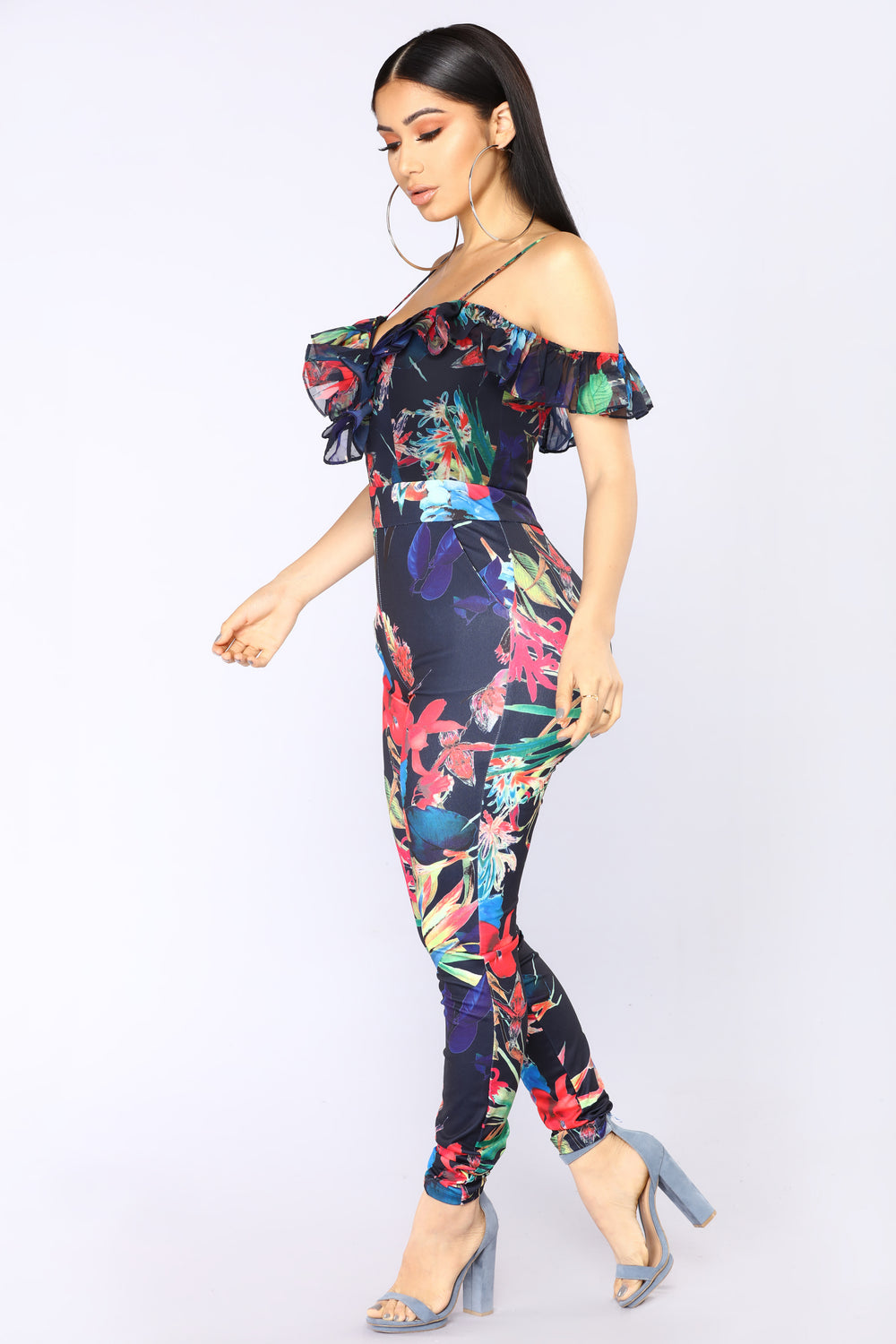 Cayman Islands Tropical Jumpsuit - Navy