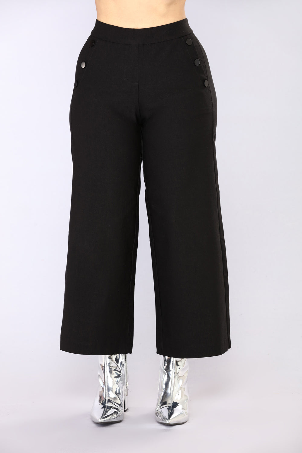 Suzanna Culotte Pants - Black