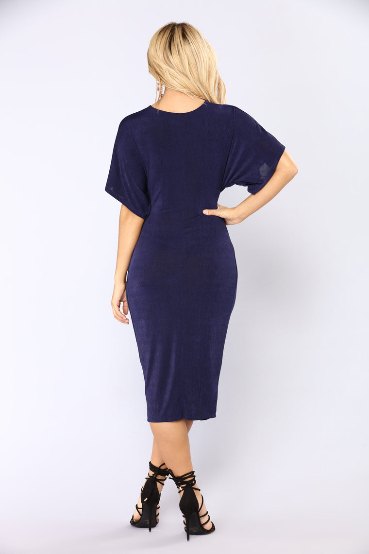 Full Grown Knot Dress - Navy