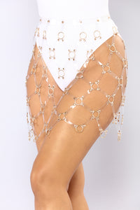 Love Trap Caged Skirt Belt - Clear