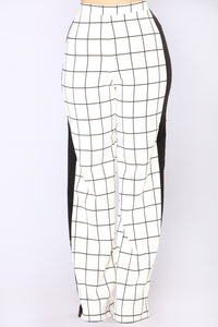 In Her Element Pants - White/Black