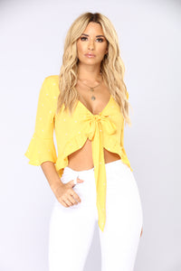 Sweet Nothing Crop Top - Mustard