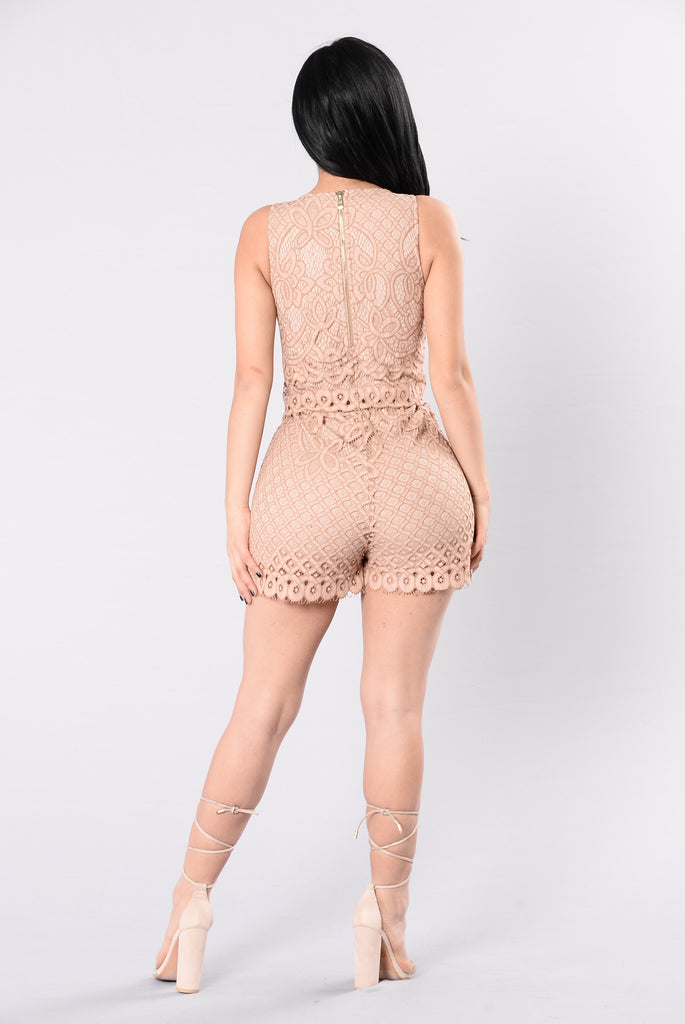 If This Is Love Rompers - Dark Mauve