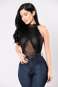 Ruffle It Up Bodysuit - Black