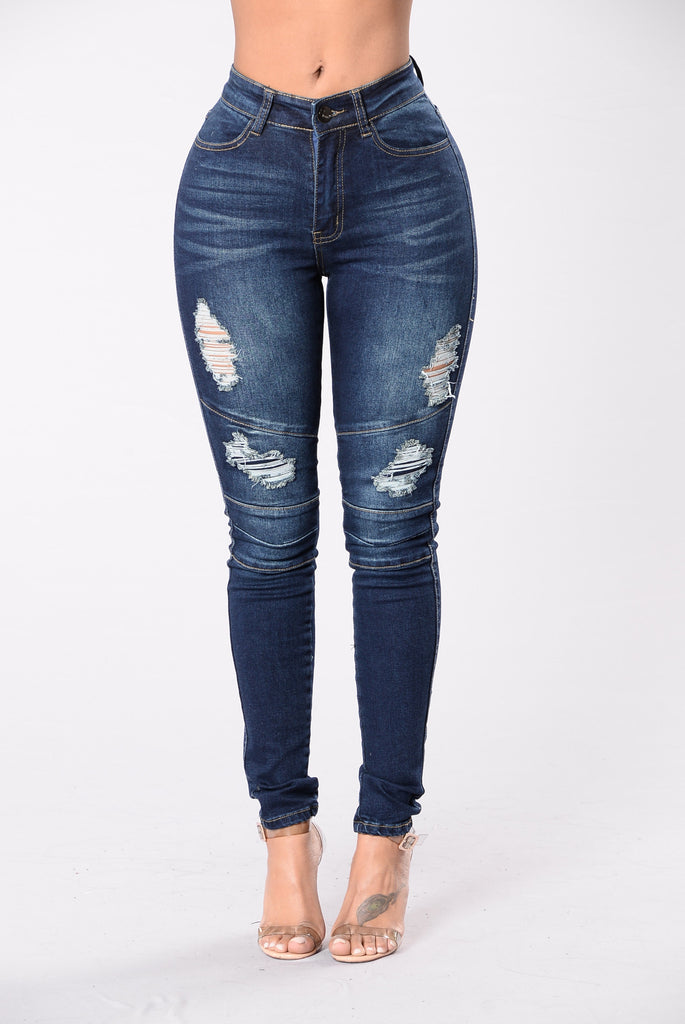 Lock In Your Love Jeans - Dark Blue