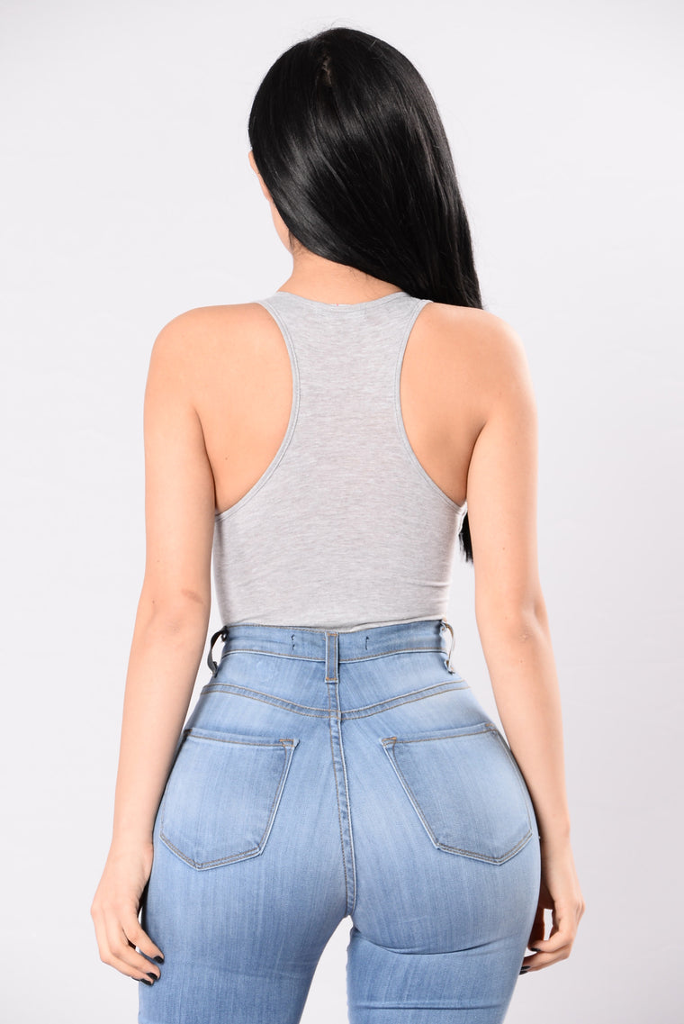 Palm Desert Bodysuit - Heather Grey