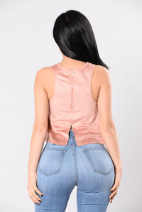 Per Suede Sive Top - Blush