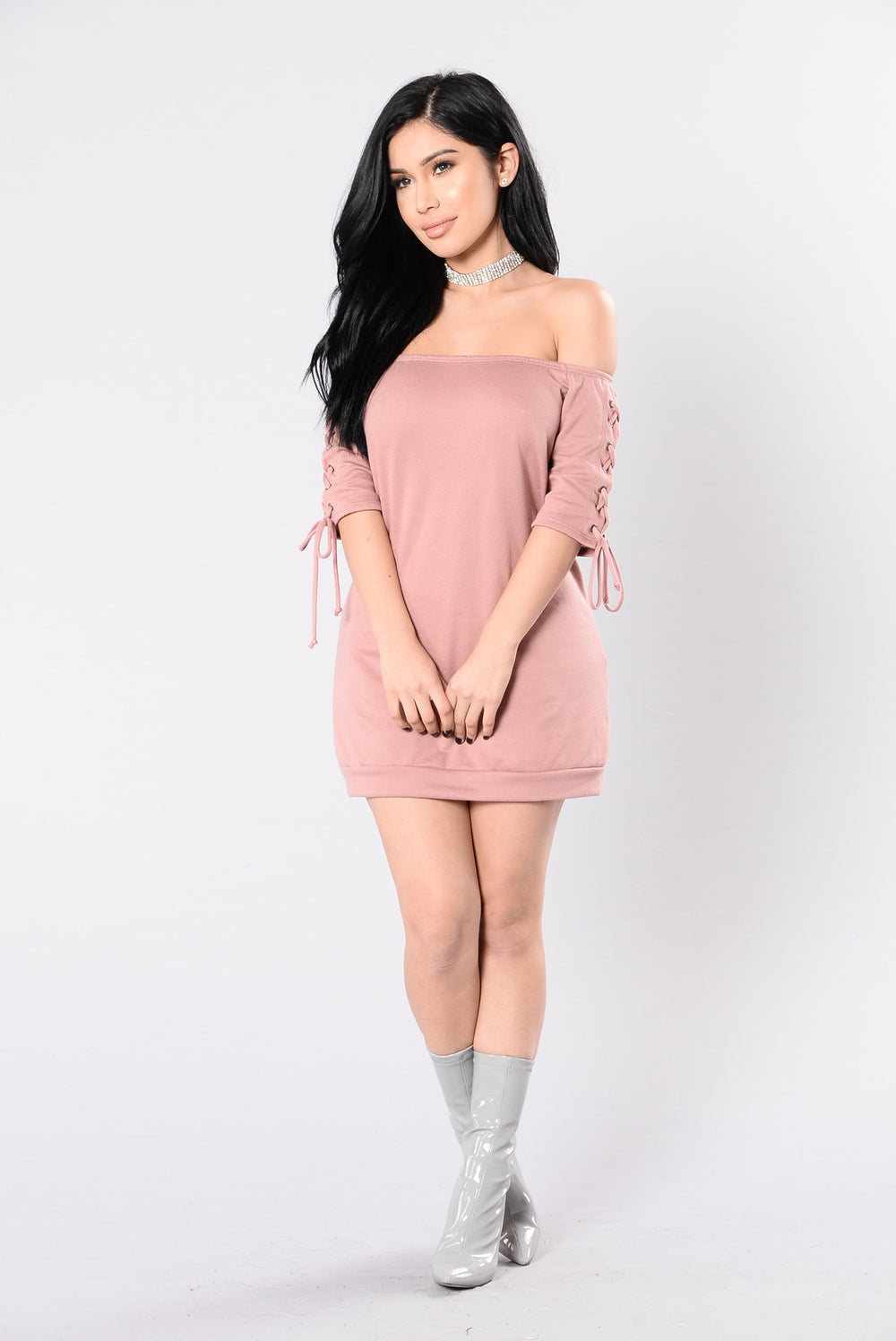 Unravel Me Dress - Mauve