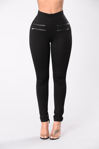 Zip Trip Pants - Black