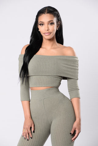Can't Ignore Me Top - Olive