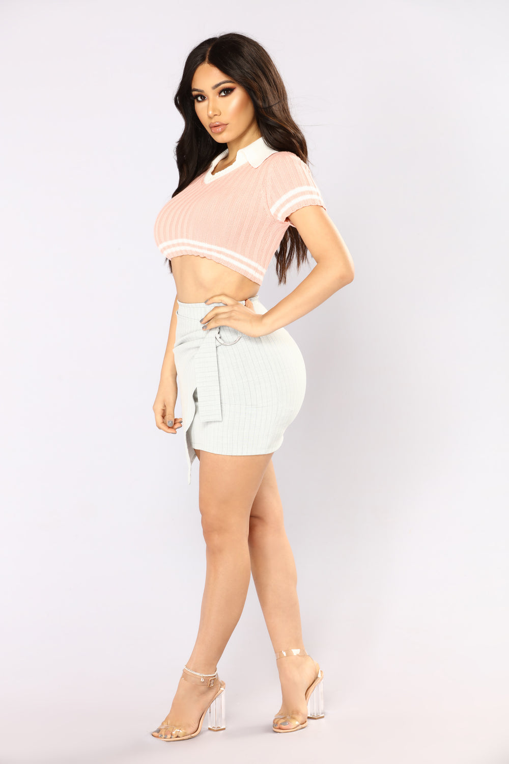 Sweet And Innocent Top - Pink/White