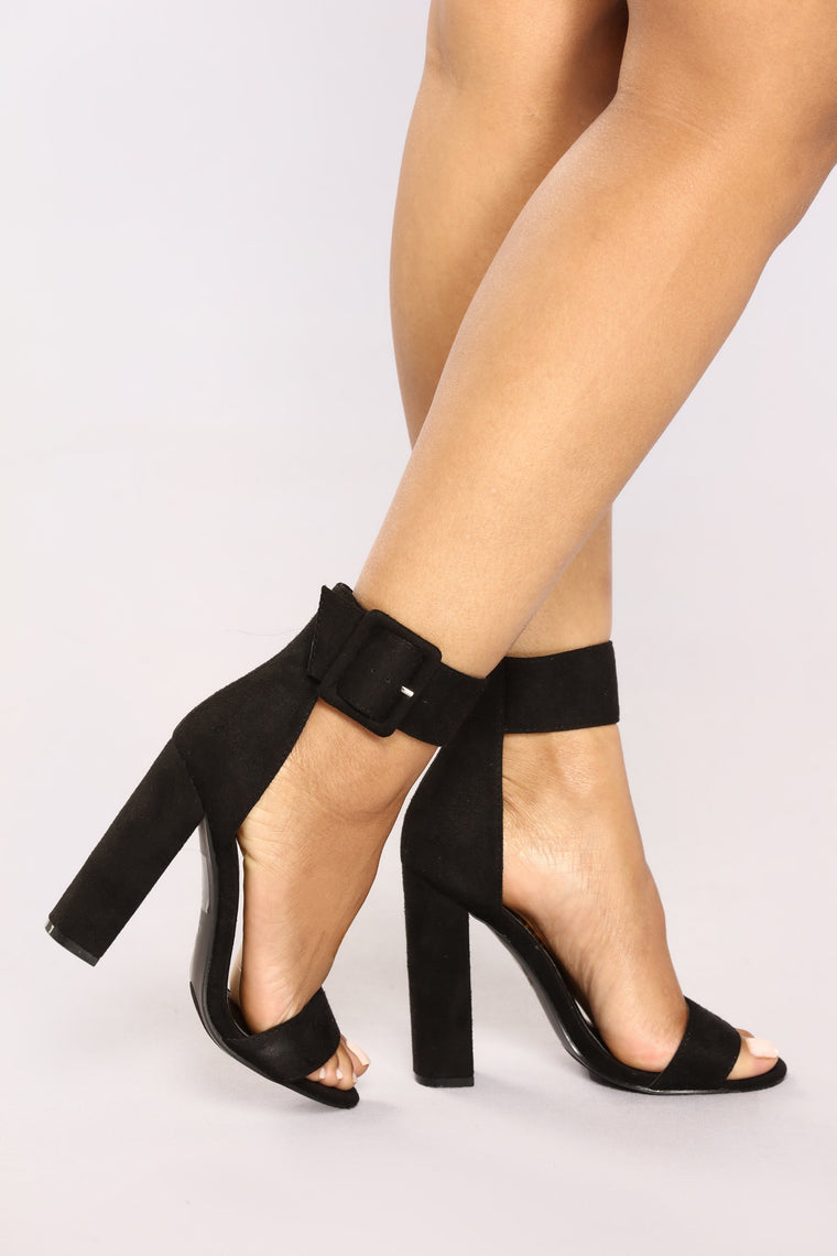 Wide Awake Heels Black