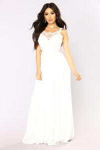 Delicate Lace Dress - White