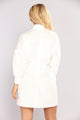 Good At Goodbyes Shirt Dress - Ivory