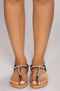 Ventura Jeweled Sandal - Black