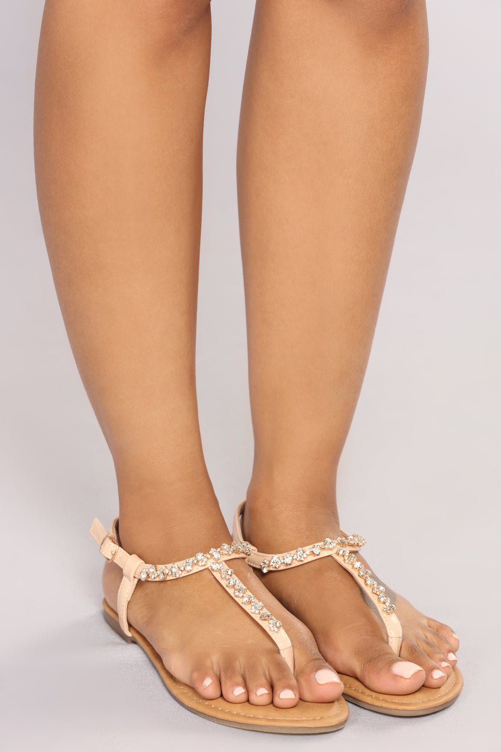 Ventura Jeweled Sandal - Blush