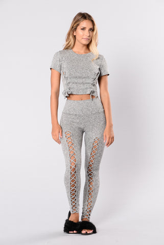 Eruption Legging - Grey