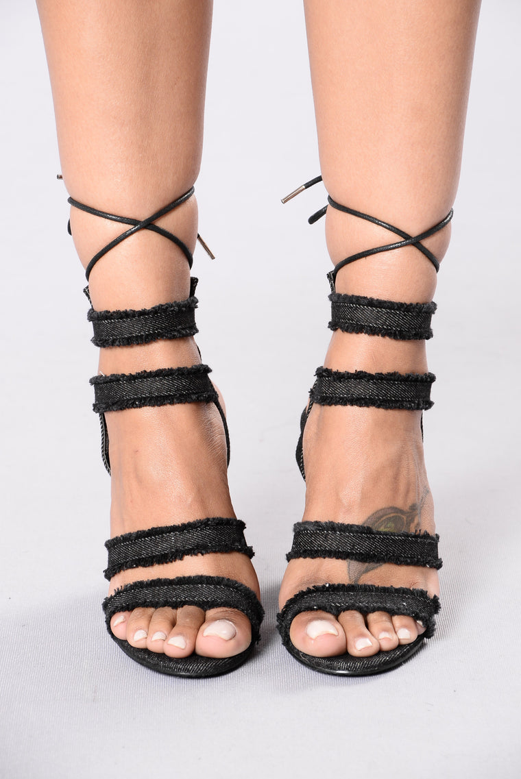 Love Me Now Heel - Black