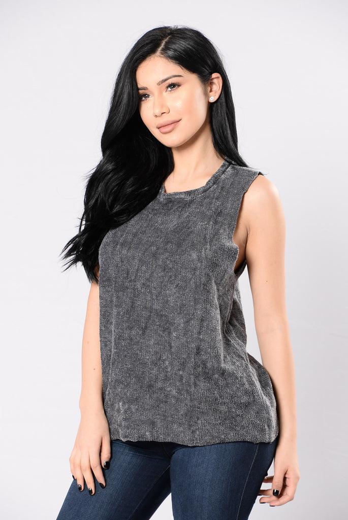 Rock You Baby Top - Heather Black