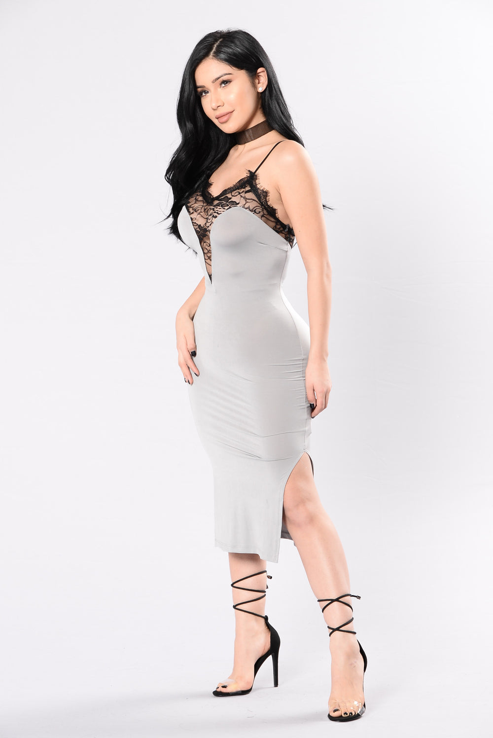 Slip Away Dress - Silver