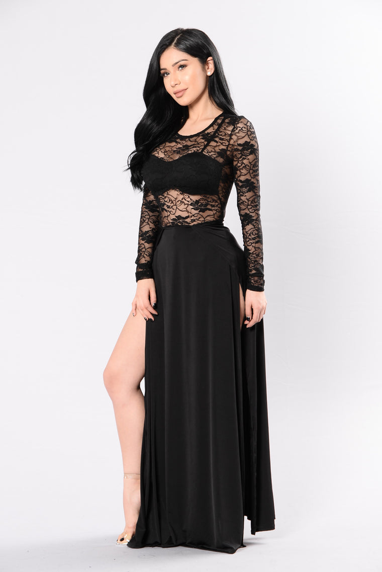 Take A Sip Dress - Black