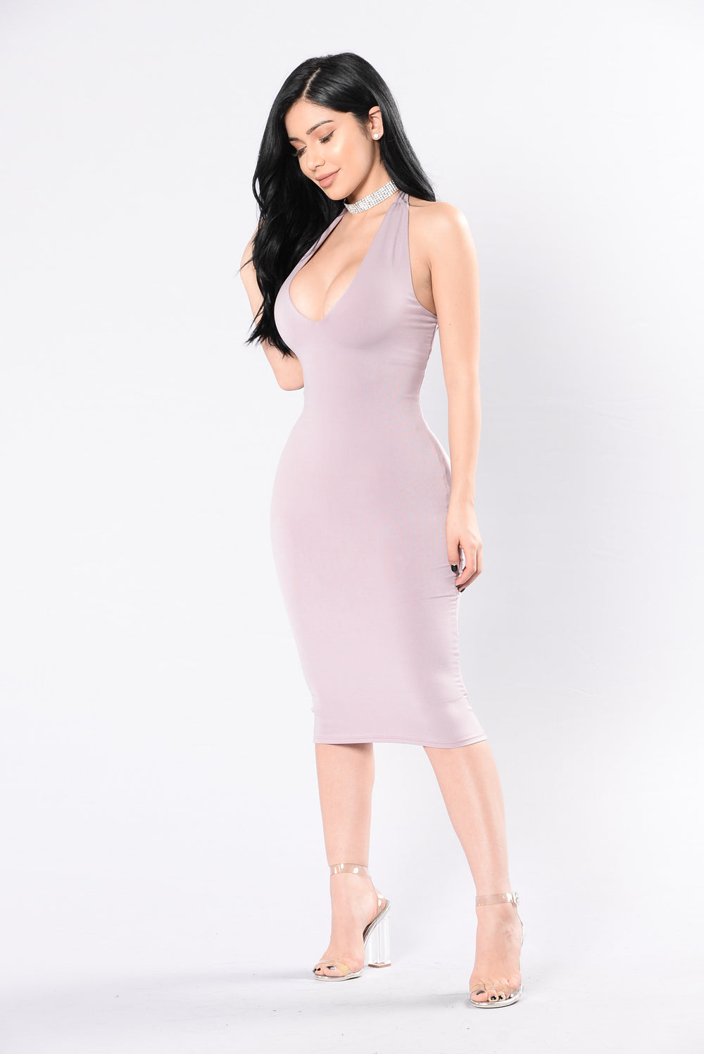 Not What You Expected Dress - Mauve