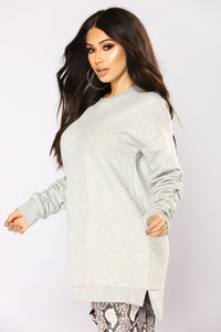 Marlene Ruched Tunic - Heather Grey