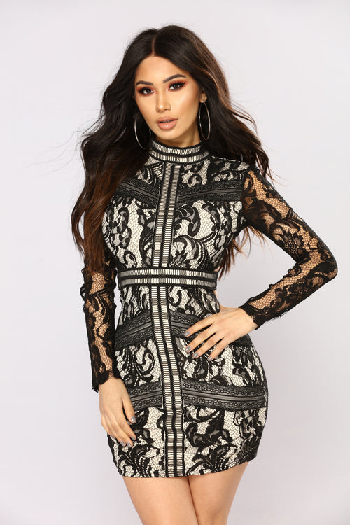aaca52681e1 Serenade The Streets Lace Dress - Black