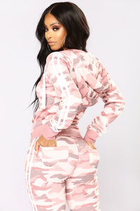 Camo Inside With Me Jacket - Pink