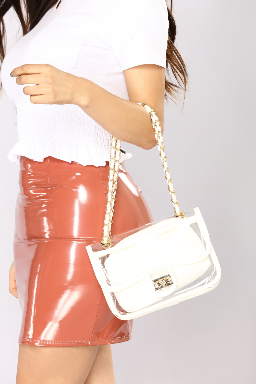 Loud And Clear Crossbody Bag - White