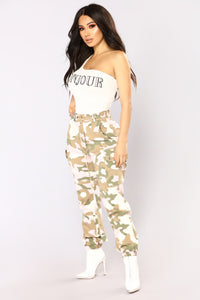 Bonjour To You Bodysuit - White/Black