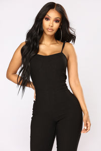 Wrong Turn Jumpsuit - Black