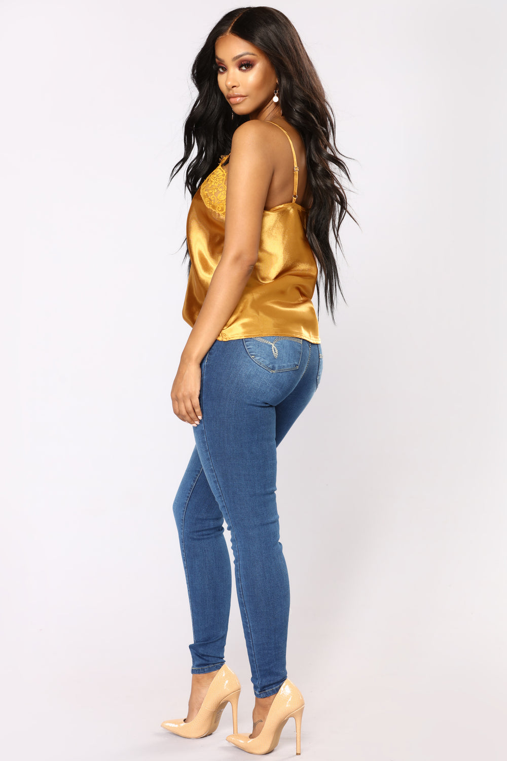 Real Talk Booty Lifting Jeans - Medium Blue Wash