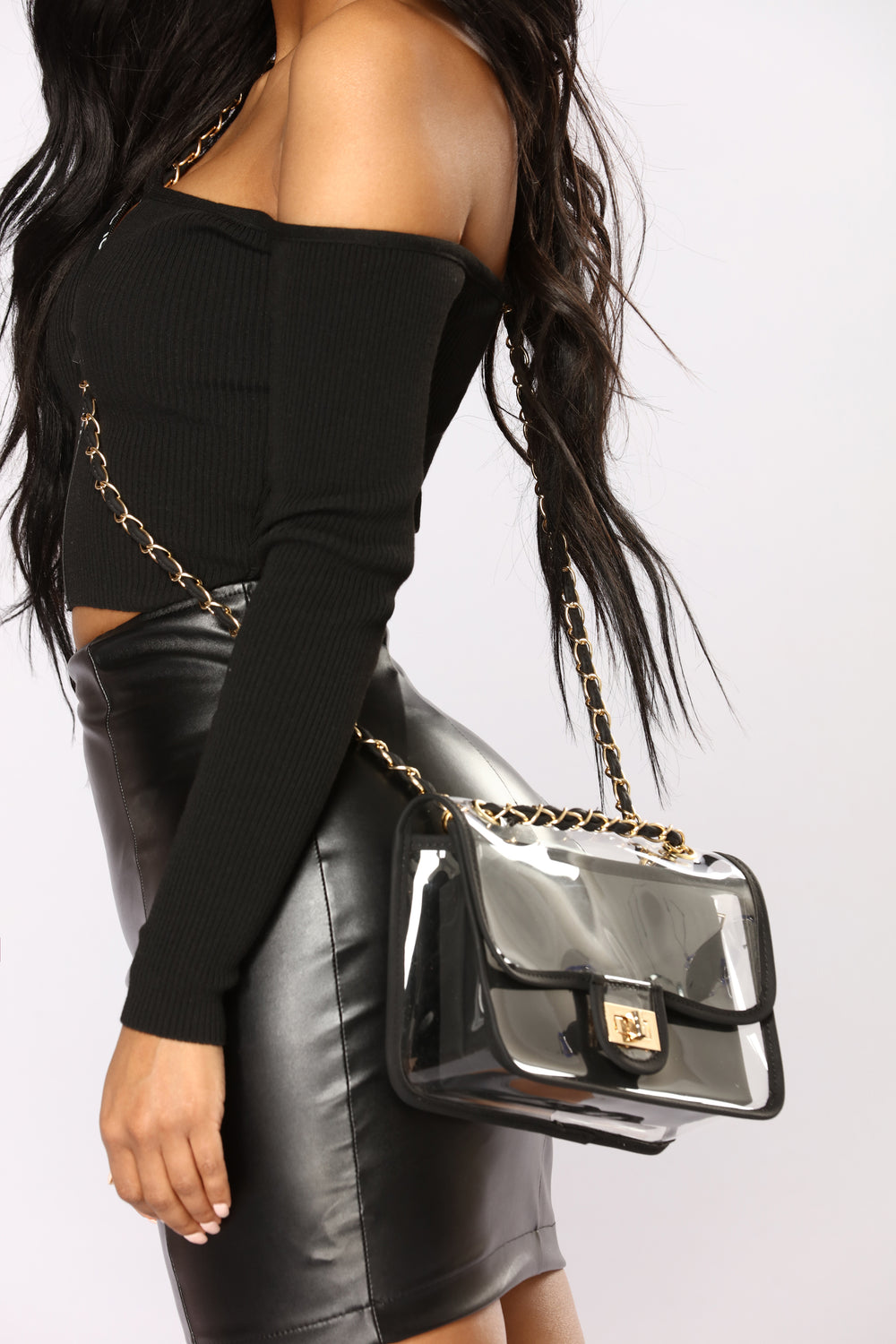Loud And Clear Crossbody Bag - Black