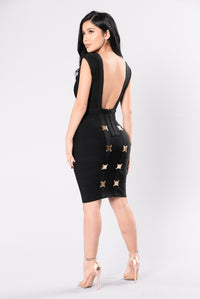 Weekend Feels Bandage Dress - Black
