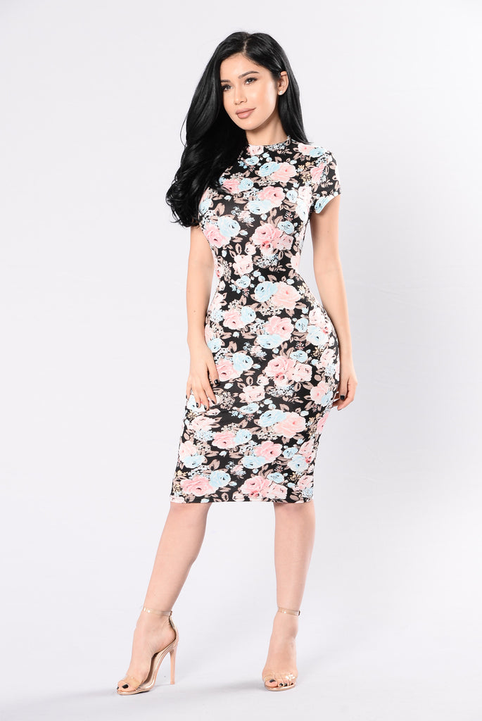 I'm What You Need Dress - Black Multi