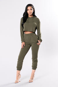 Comfy and Cozy Top - Olive Angle 1