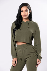 Comfy and Cozy Top - Olive Angle 2