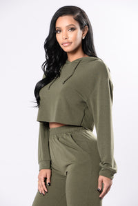 Comfy and Cozy Top - Olive Angle 5
