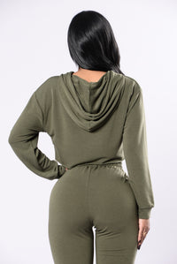 Comfy and Cozy Top - Olive Angle 4