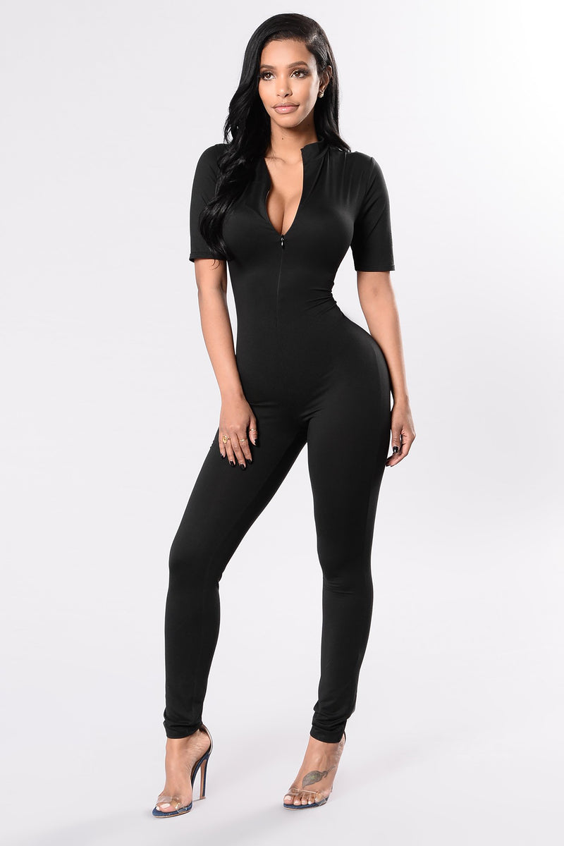 Queen Of Hearts Jumpsuit - Black