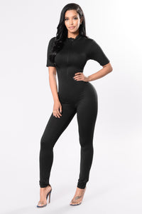 Queen Of Hearts Jumpsuit - Black Angle 3