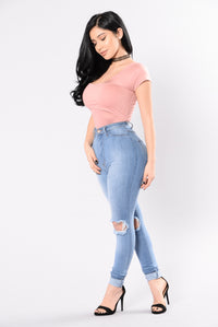 Moving Fast Bodysuit - Pink