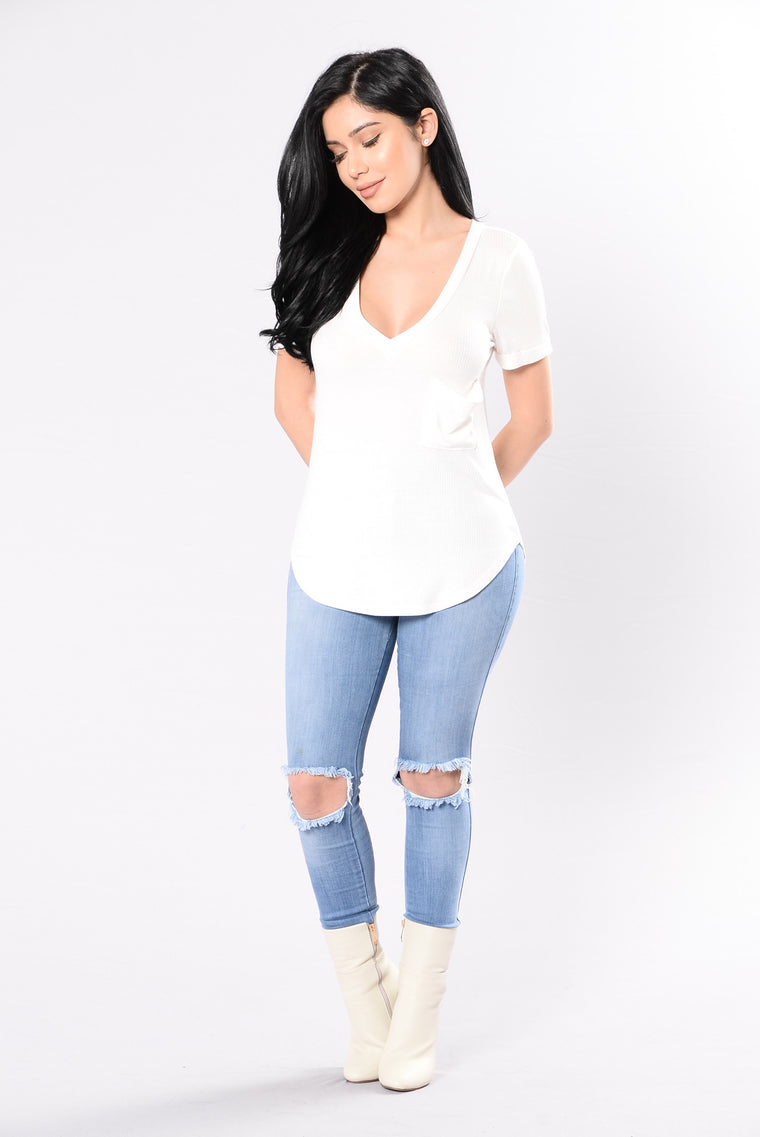 Be There In Seconds Flat Tee - Ivory