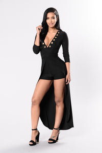 Just For You Romper - Black