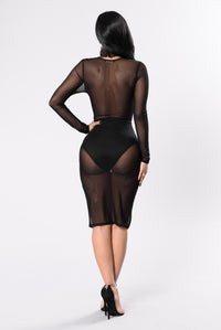Players Club Dress - Black